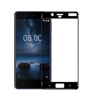 Защитное стекло 3D / 5D Full Glue с полной проклейкой на весь экран для Nokia 8 (Black)