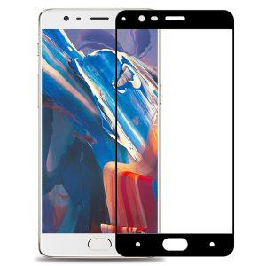 Защитное стекло 2.5D (3D) Full Cover для OnePlus 3 / 3T  на весь экран – Black