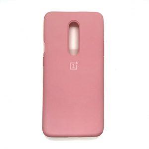 Оригинальный чехол Silicone Cover 360 с микрофиброй для OnePlus 7 Pro (Розовый)