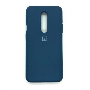 Оригинальный чехол Silicone Cover 360 с микрофиброй для OnePlus 7 Pro (Синий)