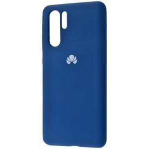 Оригинальный чехол Silicone Cover 360 с микрофиброй для Huawei P30 Pro (Синий)