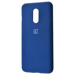 Оригинальный чехол Silicone Cover 360 с микрофиброй для OnePlus 7 (Синий)