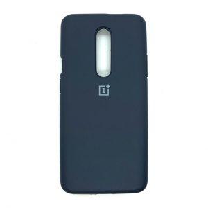 Оригинальный чехол Silicone Cover 360 с микрофиброй для OnePlus 7 Pro (Темно-синий)