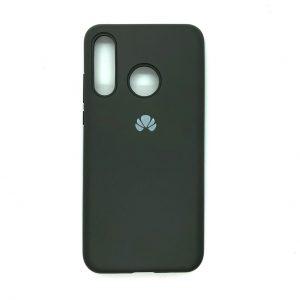 Оригинальный чехол Silicone Cover 360 с микрофиброй для Huawei P30 Lite (Темно-серый)