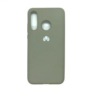 Оригинальный чехол Silicone Cover 360 с микрофиброй для Huawei P30 Lite (Серый)