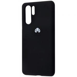Оригинальный чехол Silicone Cover 360 с микрофиброй для Huawei P30 Pro (Черный)