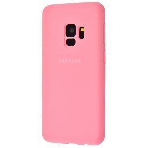 Оригинальный чехол Silicone Cover 360 с микрофиброй для Samsung Galaxy S9 (G960) (Розовый)