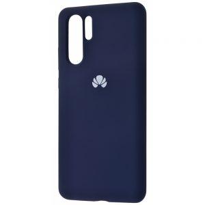 Оригинальный чехол Silicone Cover 360 с микрофиброй для Huawei P30 Pro (Темно-синий)