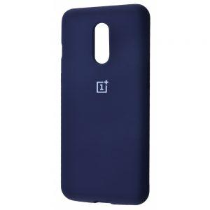 Оригинальный чехол Silicone Cover 360 с микрофиброй для OnePlus 7 (Темно-синий)