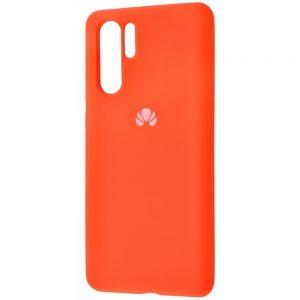 Оригинальный чехол Silicone Cover 360 с микрофиброй для Huawei P30 Pro (Orange)