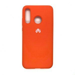 Оригинальный чехол Silicone Cover 360 с микрофиброй для Huawei P30 Lite (Оранжевый)