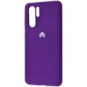 Оригинальный чехол Silicone Cover 360 с микрофиброй для Huawei P30 Pro (Фиолетовый)