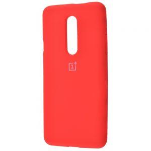 Оригинальный чехол Silicone Cover 360 с микрофиброй для OnePlus 7 Pro (Красный)