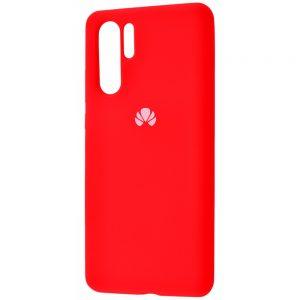 Оригинальный чехол Silicone Cover 360 с микрофиброй для Huawei P30 Pro (Red)
