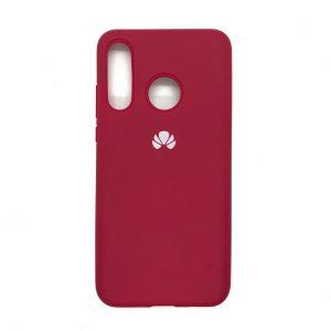 Оригинальный чехол Silicone Cover 360 с микрофиброй для Huawei P30 Lite (Малиновый)