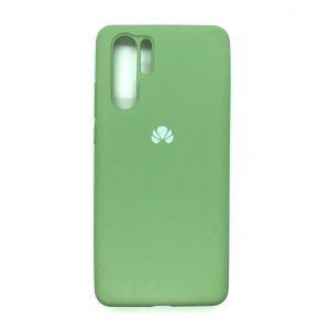 Оригинальный чехол Silicone Cover 360 с микрофиброй для Huawei P30 Pro (Салатовый)