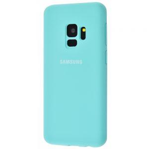 Оригинальный чехол Silicone Cover 360 с микрофиброй для Samsung Galaxy S9 (G960) (Бирюзовый)