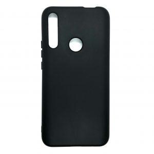 Оригинальный чехол Silicone Cover 360 с микрофиброй под магнитный держатель для Huawei P Smart Z (Черный)