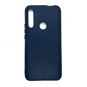 Оригинальный чехол Silicone Cover 360 с микрофиброй под магнитный держатель для Huawei P Smart Z (Темно-синий)