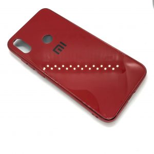 TPU+Glass чехол Glass Case Logo зеркальный для Xiaomi Redmi Note 7 / 7 Pro / 7s (Красный)