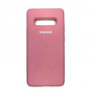 Оригинальный чехол Silicone Cover 360 с микрофиброй для Samsung S10 (G973) – Light Pink
