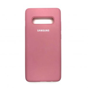 Оригинальный чехол Silicone Cover 360 с микрофиброй для Samsung S10 Plus (G975) (Light Pink)