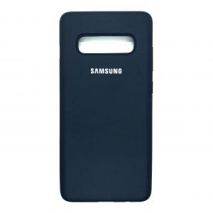 Оригинальный чехол Silicone Cover 360 с микрофиброй для Samsung S10 Plus (G975) (Midnight Blue)