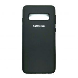 Оригинальный чехол Silicone Cover 360 с микрофиброй для Samsung S10 (G973) (Dark Olive)