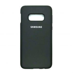 Оригинальный чехол Silicone Cover 360 с микрофиброй для Samsung S10e (G970) (Dark Olive)