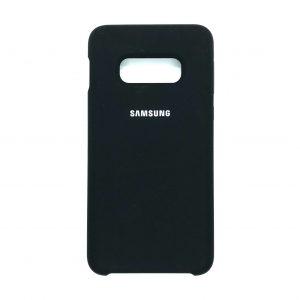 Оригинальный чехол Silicone Case с микрофиброй для Samsung Galaxy S10e (G970) (Черный)