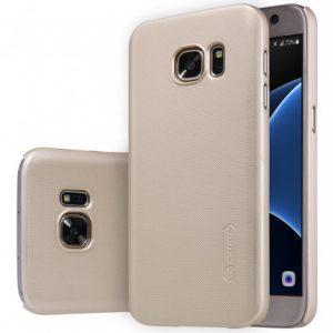 Пластиковый чехол Nillkin Matte для Samsung Galaxy S7 Edge (G935) (Золотой)