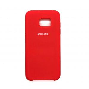 Оригинальный чехол Silicone Case с микрофиброй для Samsung Galaxy S7 Edge (G935) (Коралловый)