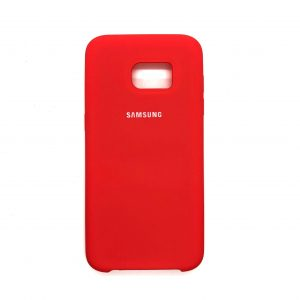 Оригинальный чехол Silicone Case с микрофиброй для Samsung Galaxy S7 Edge (G935) (Коралловый)