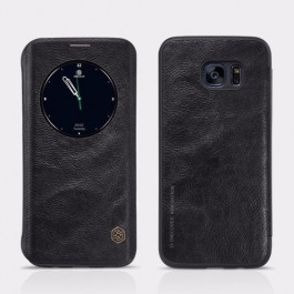 Кожаный чехол-книжка Nillkin Qin Series для Samsung Galaxy S7 Edge (G935) (Черный)