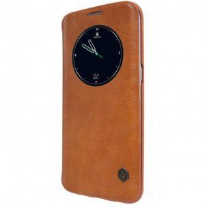 Кожаный чехол-книжка Nillkin Qin Series для Samsung Galaxy S7 Edge (G935) (Коричневый)