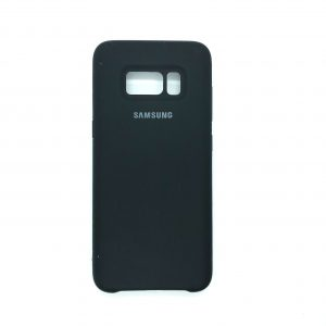 Оригинальный чехол Silicone Case с микрофиброй для Samsung G950 Galaxy S8 (Черный)