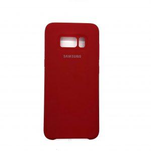 Оригинальный чехол Silicone Case с микрофиброй для Samsung G950 Galaxy S8 (Красный)