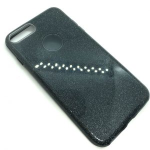 Cиликоновый (TPU+PC) чехол Shine с блестками для Iphone 7 Plus / 8 Plus  (Серый)