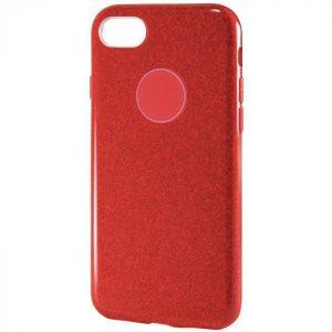 Cиликоновый (TPU+PC) чехол Shine с блестками для Iphone 7 / 8 (Красный)