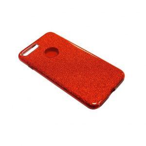 Cиликоновый (TPU+PC) чехол Shine с блестками для Iphone 7 Plus / 8 Plus  (Красный)