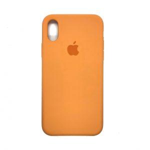 Оригинальный чехол Silicone Case с микрофиброй для Iphone XR №51 (Carrot)