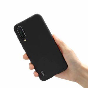 Матовый силиконовый (TPU) чехол для Xiaomi Mi A3 (CC9e) (Черный)