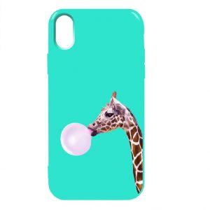 Силиконовый TPU чехол TOTO Pure Print Case с рисунком для iPhone X / XS (Giraff Gum Mint)