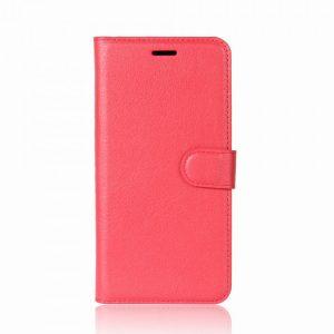 Кожаный чехол-книжка Wallet с визитницей для Meizu M6 Note (Красный)