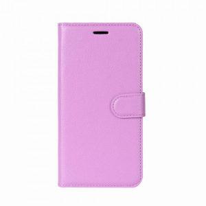 Кожаный чехол-книжка Wallet с визитницей для Meizu M6 Note (Фиолетовый)