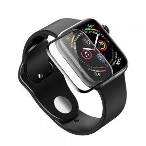 Защитное стекло 3D / 5D Full Glue для Apple Watch 40 mm / SE 40 mm (Black)