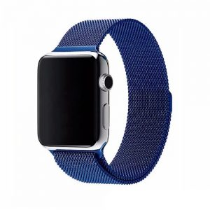 Ремешек Миланская петля Milanese Loop для Apple Watch 38 mm / 40 mm №13 (Синий)