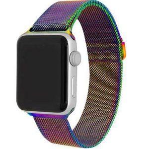 Ремешек Миланская петля Milanese Loop для Apple Watch 38 mm / 40 mm №10 (Хамелеон)