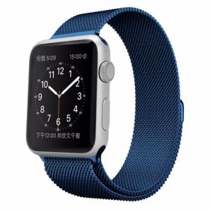 Ремешек Миланская петля Milanese Loop для Apple Watch 38 mm / 40 mm №17 (Темно-синий)