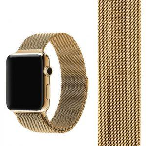 Ремешек Миланская петля Milanese Loop для Apple Watch 38 mm / 40 mm / SE 40 mm №5 (Золотой)